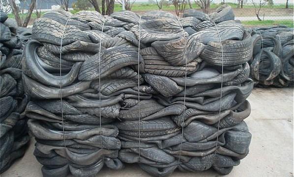 废旧轮胎打包